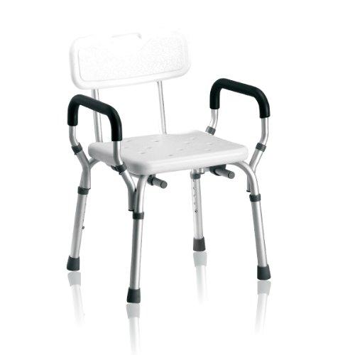 Duschstuhl mit Arm- und Rückenlehne 7116289 - Höhenverstellbar - 1 Stück
