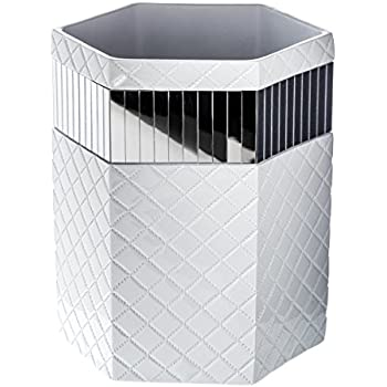 Amazon.com: Creative Scents Brushed Nickel Bathroom Trash Can ...