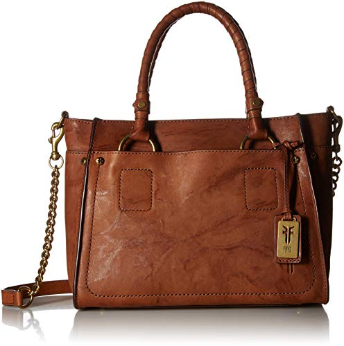 FRYE Demi Satchel Leather Handbag, whiskey ()