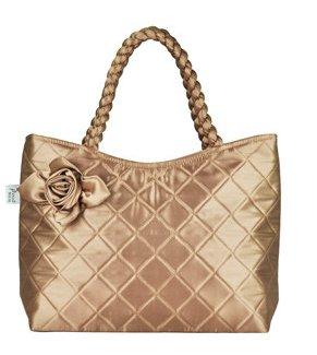 The new lady commuter handbag female one shoulder flower cloth fashion handbags
