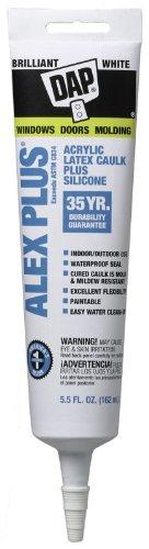 Dap 18128 5.5 Oz White Alex Plus Acrylic Latex Caulk Plus Silicone by DAP