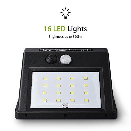 Turbot Solar Sensor Light Super Bright 16 LED Outdoor Security Import It All