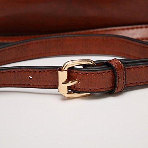 diagonal hombro moda tamaño cintura de Bolso cruzada Penao Brown señora 32cmx12cmx30cm femenina pack wxaTY0wRq