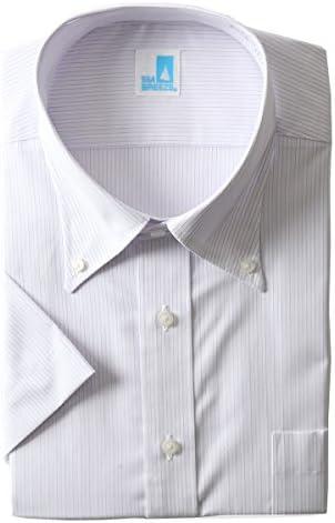 SEA BREEZE 形態安定 ボタンダウン 半袖 シャツ