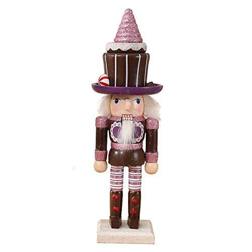 "Oottati Christmas Workshop Puppet Wooden Nutcracker Girl 25cm 10"" Brown Chocolate Ice Cream"