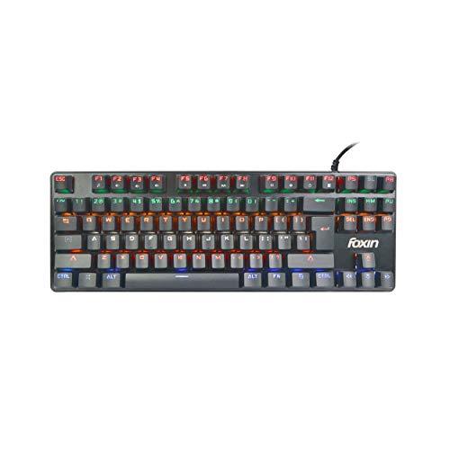Foxin FMK-1002 RGB Backlit Semi-Mechanical Gaming Keyboard (Black)