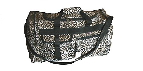 22″ Duffel Bag with 4-pockets stylish desidns & Weather/Water Resistant (Lepard Animal Skin design) Review