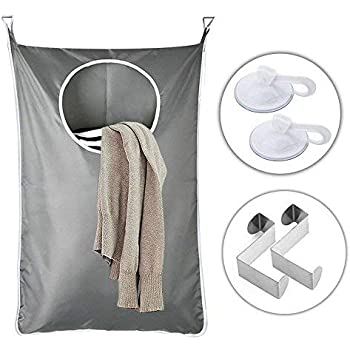 Amazon.com: RooMore Wall- Hanging Laundry Hamper Bag, Over