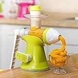 Manual Juicer machine Multifunctional Manual Ice Cream Maker Machine Rotatable DIY Household Portable Juicer Ice Cream