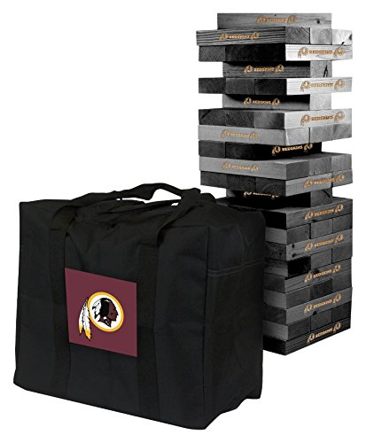 NFL Washington Redskins Washington Onyx Stained Giant Wooden Tumble Tower Game, Multicolor, One Size by Victory Tailgate