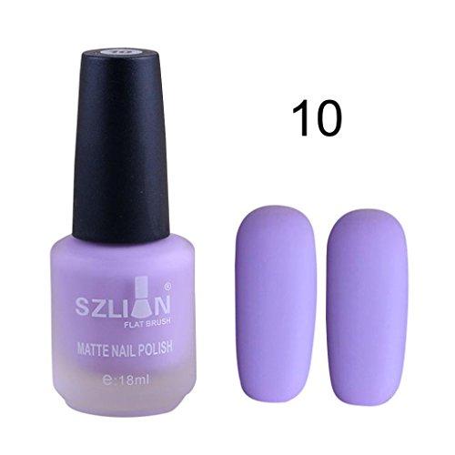 Dingji 18ml Fast Dry Matte Dull Nail Polish Lasting Nail Art Matte Nail Polish Gel ()