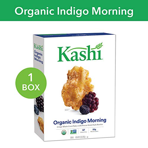 Kashi, Breakfast Cereal, Organic Indigo Morning, Gluten Free, Non-GMO Project Verified, 10.3 oz