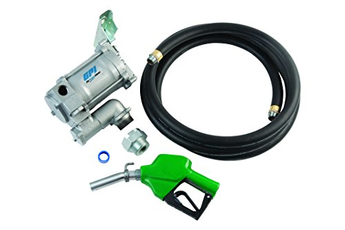 GPI 133200-33, M-3120-AD High Flow Cast Iron Fuel Transfer Pump, 20 GPM, 115-VAC, 1-Inch X 12-Foot Hose, Automatic Diesel Nozzle by GPI® The Proven Choice®
