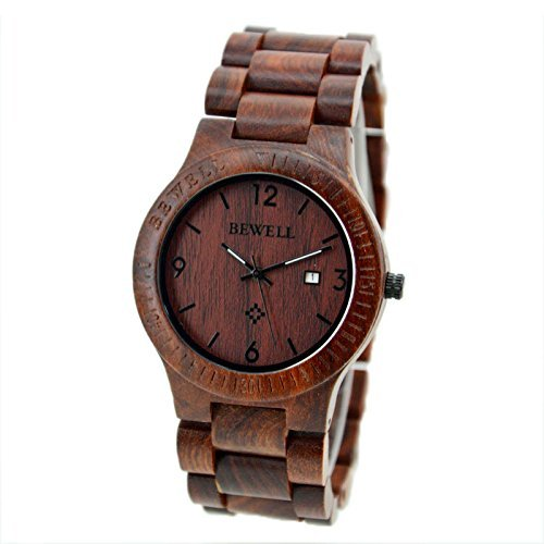 SILILUN Coffee Color Maple Wooden Men watches Quartz - Wooden Watches Cheap