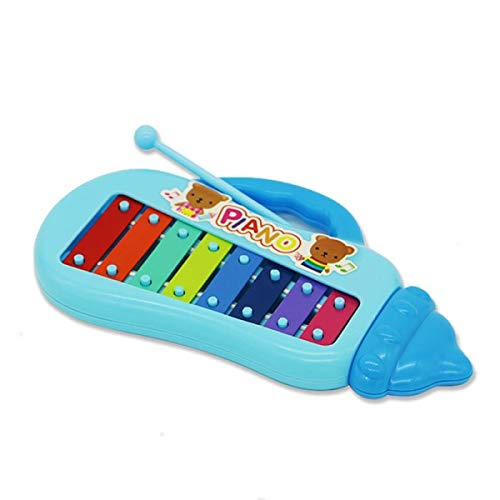 (JohnCalbe 8 Note Baby Early Musical Instrument Hand Knock Piano Multicolor Xylophon Develop Music Toy Learning Education for Children Gift)