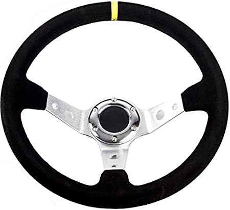 2 or 3 Dish STR 13 Rally//Drift//Race Steering Wheel Black//White//Blue//Red//Green//Silver//Gold White, 3