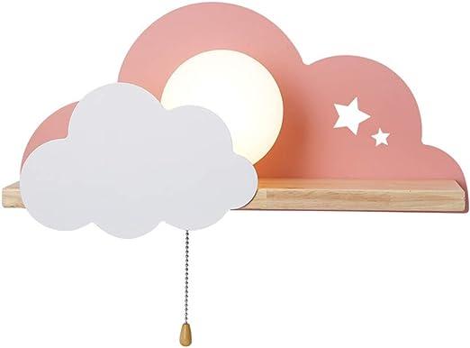 Les enfants Applique murale Avec interrupteur à tirette Veilleuse Créatif  Nuage Applique Fille ou garçon Chambre éclairage Lampe de chevet E9 Pour