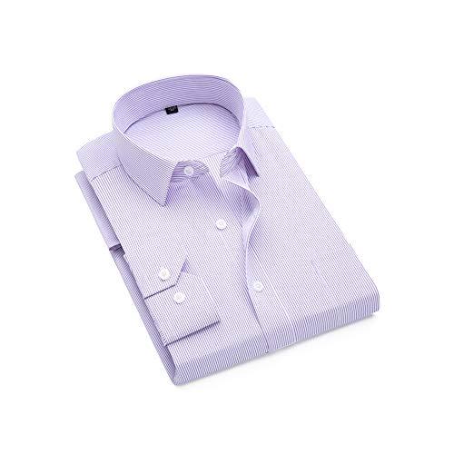 Catheive Men's Fashion Pinstripe Slim Fit Long Sleeve Button Down Dress Shirt ()