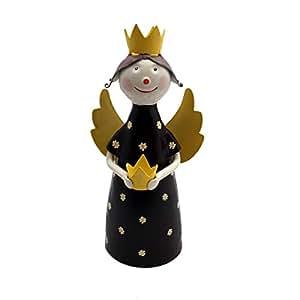 Figura de ángel Chapa Figura Valla taburete Decoración Metal pintadas a mano multicolor Jardín wohung Decoración de Navidad (Selección de Colores)–Gall & Zick, morado