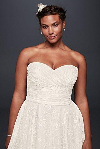Strapless Lace Plus Size Short Wedding Dress Style 9wg3826