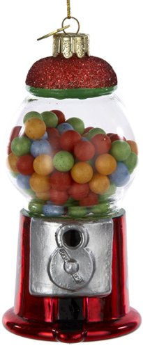 Noble Gems Kurt Adler 4-1/2-Inch Glass Gumball Machine Ornament