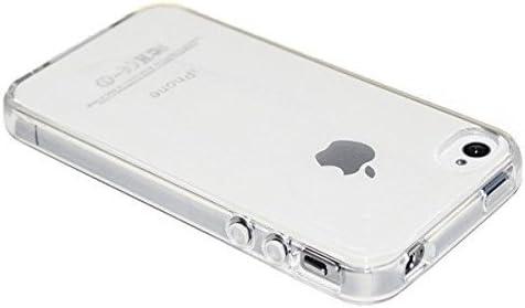Rey Funda Carcasa Gel Transparente Para Iphone 4 4s Ultra Fina 0 33mm Silicona Tpu De Alta Resistencia Y Flexibilidad Amazon Es Electrónica