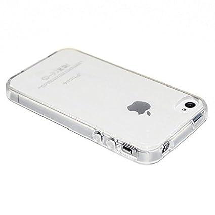 900baaba5e3 Funda Carcasa Gel Transparente para iPhone 4 4S Ultra Fina 0,33mm, Silicona  TPU