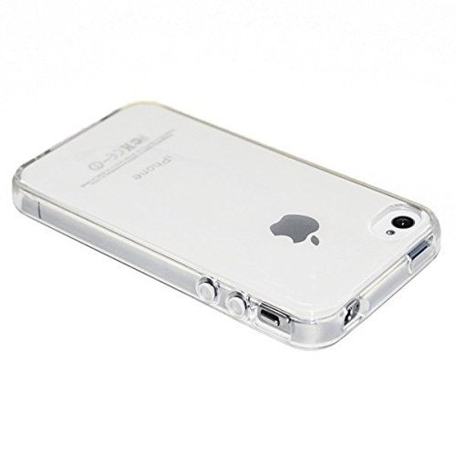 2cdf39d0411 Funda Carcasa Gel Transparente para iPhone 4 4S Ultra Fina 0,33mm, Silicona  TPU
