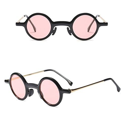 Vintage Lentilles Distincte Lunettes Black Zhhlinyuan Forme Femmes Eyeglasses Les Rétro Dames de et de Small Regarder Rondes Soleil Définies dqfI7w