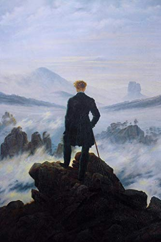F-MORE Caspar David Friedrich Wanderer Above The Sea of Fog Art Print Mural Giant Poster 18x24 inch (Wanderer Above The Sea Of Fog Print)