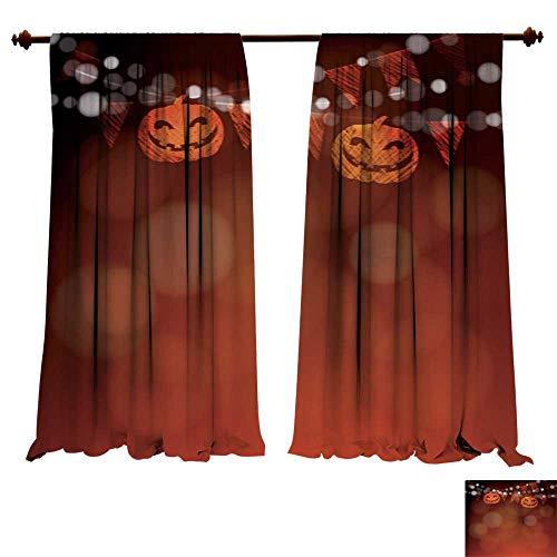 DragonBuildingMaterials Panels Sun Blocking Curtains Halloween Dia de Los Muertos Greeting Card Invitation Pumpkin Decoration Multi-Function Noise Reducing Performance -