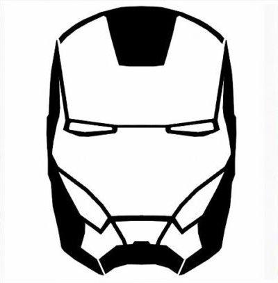 Adhesivo Pegatina Adhesivo Sticker Ironman Iron Man, pre-extendido coche, moto, casco