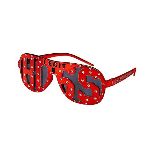 Sasha Banks Legit Boss WWE Red Studded Party Costume - Wwe Sunglasses