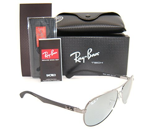 c17678883df Ray-Ban Carbon Fibre RB 8313 004 k6 58mm Shiny Gunmetal blue ...