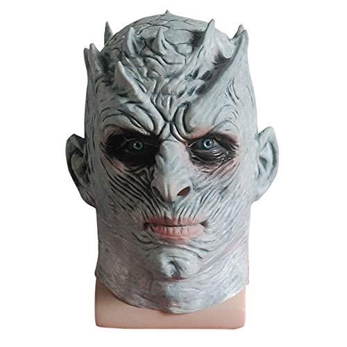 Halloween Cosplay Scary Mask,Green Face Fangs Monster Costume for Adults Party Decoration Props -