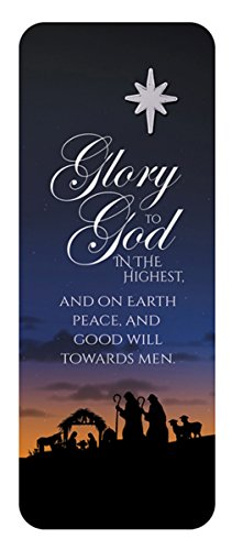 (Glory to God Silver Toned Star of Bethlehem Lapel Pin and Bookmark, 7/8 Inch)