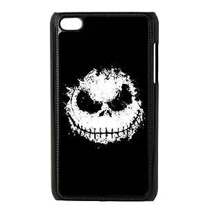 iPod Touch 4 Case Black Ink Skull QAE Phone Case Hard DIY