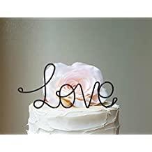LOVE Wedding Cake Topper in Black Finish Special Events Decoration