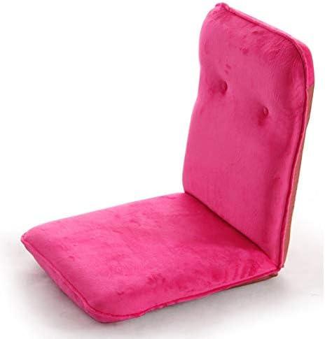 ソファー 怠惰なソファ、シンプルでモダンなシングル引き出し式ソファ、ベイソファ椅子、小さなソファ、フロアチェア A+ (Color : Pink)