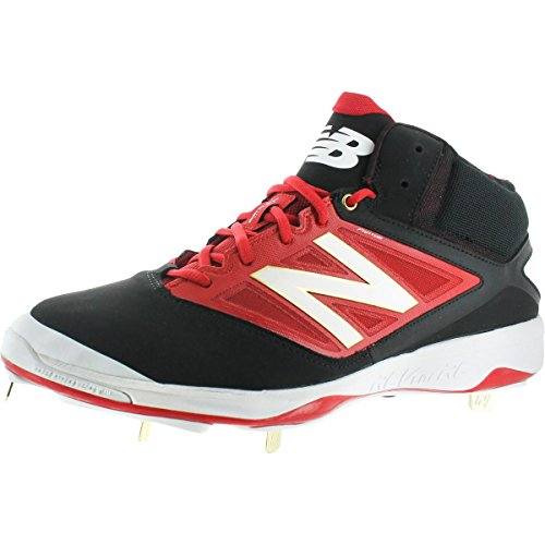 Mid Cut Cleat - New Balance Mid Cut 4040v3 Men's Synthetic Metal Baseball Cleats Black Size 11.5