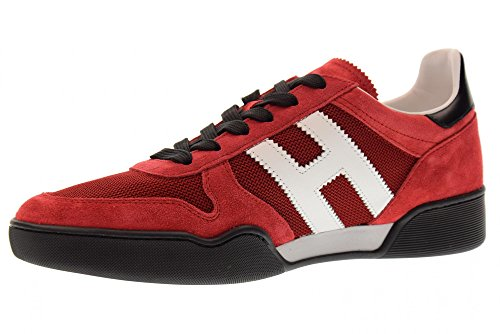 Schoenen Van Hogan Van Mannen Lage Sneakers Hxm3570ac40ipj879y H357 Rood