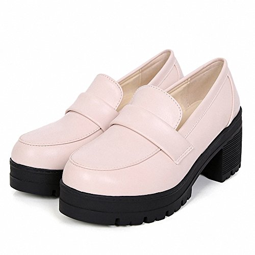 Students Beige Cosplay Shoes Mid Dress Girl's mewow Lolita Uniform Women's Costume Heel XFxAnpw