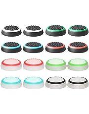 abd Controller-accessoires beschermkap controller afdekkingsset accessoires beschermhoes gemaakt van siliconen voor PS5-, PS4-, Xbox 360-, PS3-controller (16 paar gemengde kleuren)