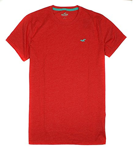 hollister-mens-must-have-basic-plain-t-shirt-ho8-small-red