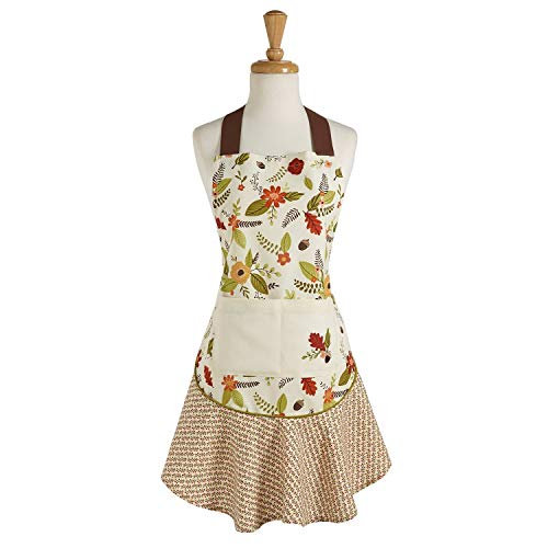Design Imports DII Fall in Love Ruffle Apron - Autumn Leaves - Thanksgiving by Design Imports