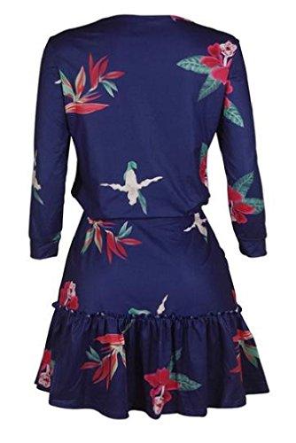 Coolred Femmes Taille Plus Manches Longues Imprimé Floral Mini-as1 Tenue Décontractée