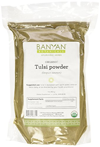 Banyan Botanicals Tulsi Powder, 1 Pound - USDA Organic - Ocimum sanctum - Holy Basil - Ayurvedic ()