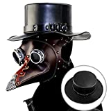MQiong Plague Doctor Bird Cosplay Hat Medieval Steampunk Industrial Retro Gentleman Topper Halloween Masquerade Costume