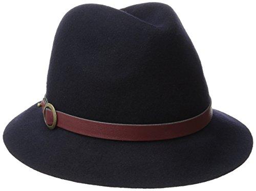 Genie by Eugenia Kim Women's Jordan Wool Felt Fedora Hat with Vegan Leather Belt, Navy, One Size (Felt Sombrero)