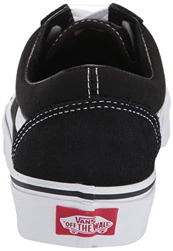 Vans Alta Unisex Classic Skool black canvas Suede Sneaker white Negro Adulto Old Ww1BYrqw